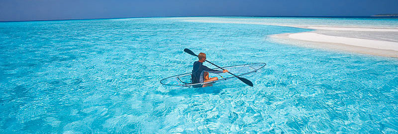 Baros Maldives canoe paying activities