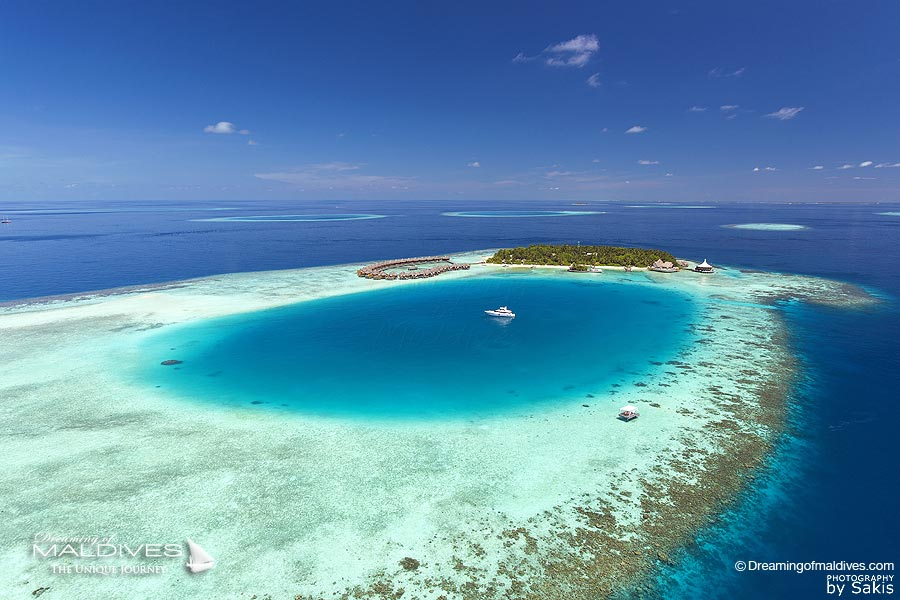 Baros Maldives Resort Aerial View