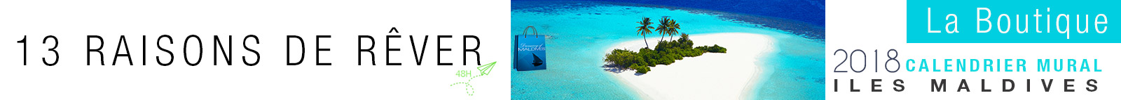 Calendrier des Iles 2018 Maldives