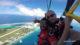 Sauter en parachute au-dessus des Iles et des lagons bleus