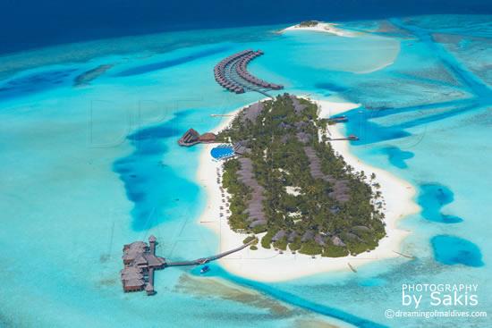 Anantara Dhigu Maldives, Vue Aérienne de l'ile