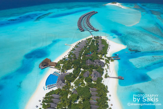Anantara Dhigu Maldives, 2eme Vue Aérienne de l'ile