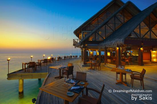 Anantara Dhi Gu Maldives, Le Restaurant principal, Fuddan