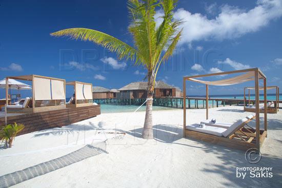 Lily Beach Maldives - Le Spa depuis la plage
