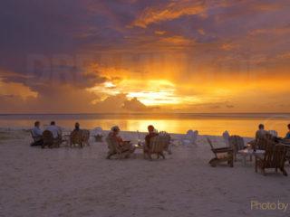 Maldives coucher de soleil