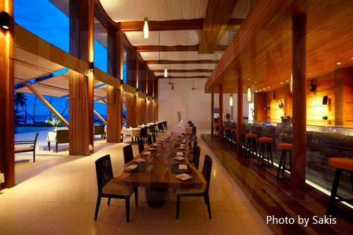 Le restaurant du Park Hyatt Maldives