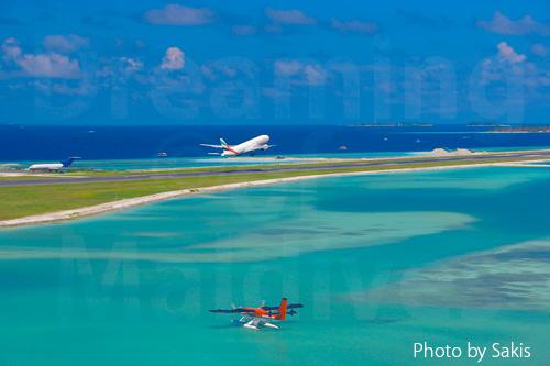 Aeroport international de Male Hulhule aux Maldives
