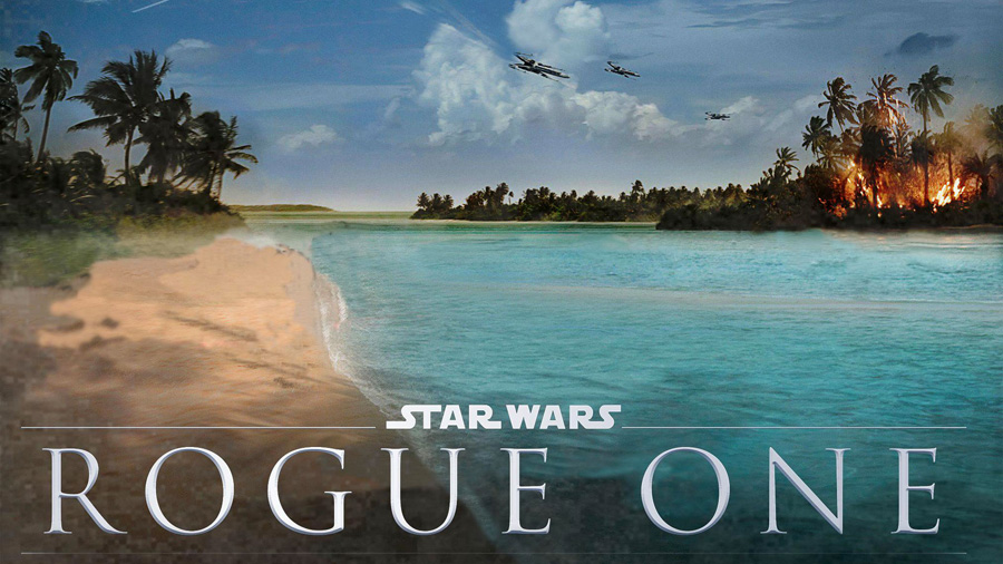 ROGUE ONE. Poster illustrant l'attaque de la rebellion sur la Planète Scarif. Maldives
