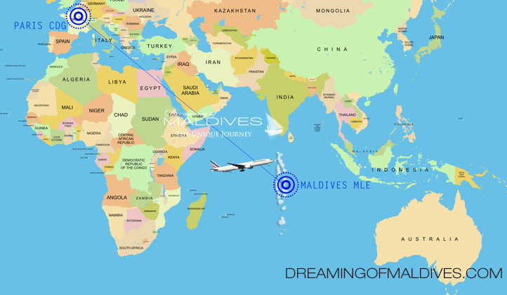 Route Air France Paris Maldives Vol Direct