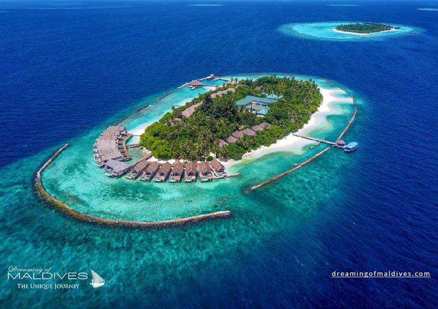 Amaya photo aérienne hôtels des îles Maldives