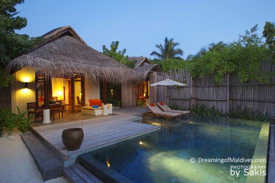 Anantara Dhigu Maldives, Les Villas sur Plage avec Piscine...