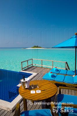 Anantara Dhigu Maldives, Vue de Rêve depuis les Suites sur Lagon