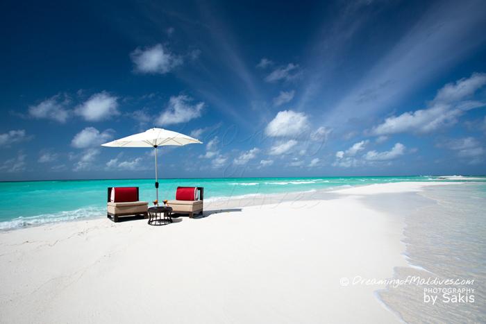 Atmosphere Kanifushi Maldives - La plage de la petite Ile déserte située à proximité