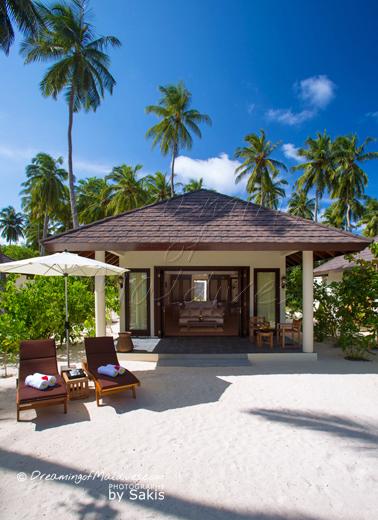 Atmosphere Kanifushi Maldives Vue extérieure des Sunset Beach Villas