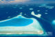 L'atoll de Male Nord Maldives et ses sites de plongee. Photo aerienne de l'Atoll .