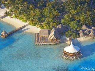 Vue aerienne de Baros Maldives