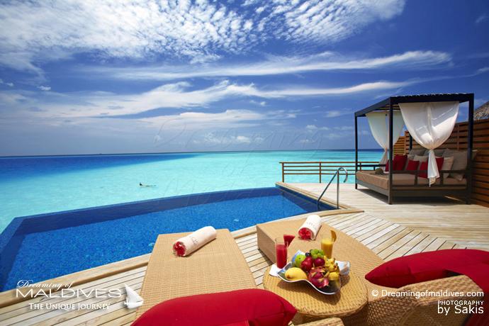 Baros Maldives Maldives meilleur Hotel pour le Snorkeling Villa sur Pilotis avec accès direct aux Récifs