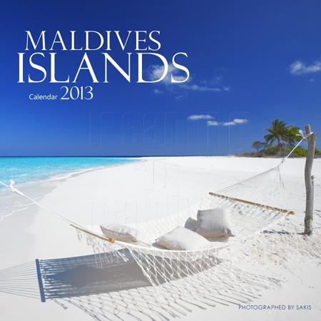 Calendrier 2013 mural des Iles Maldives