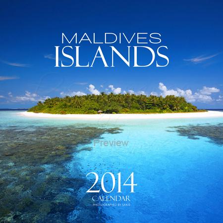 Calendrier Mural 2014 Iles Maldives