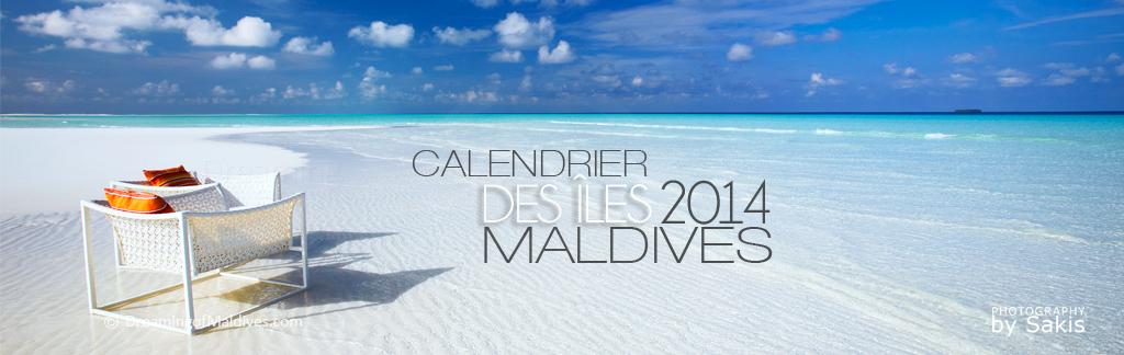 Le Calendrier Mural 2014 des Iles Maldives