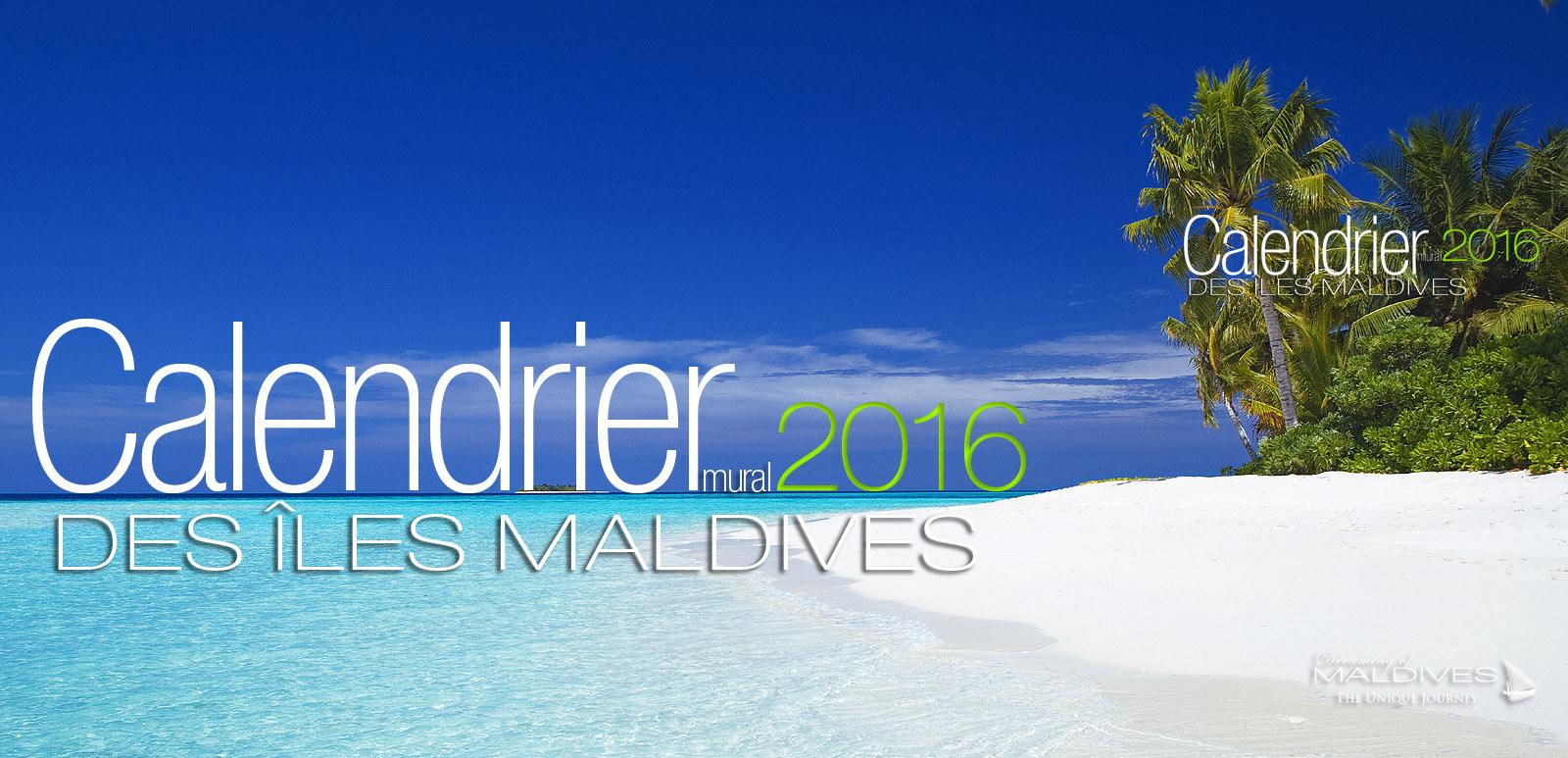 Calendrier Mural 2016 des Maldives 13 Mois
