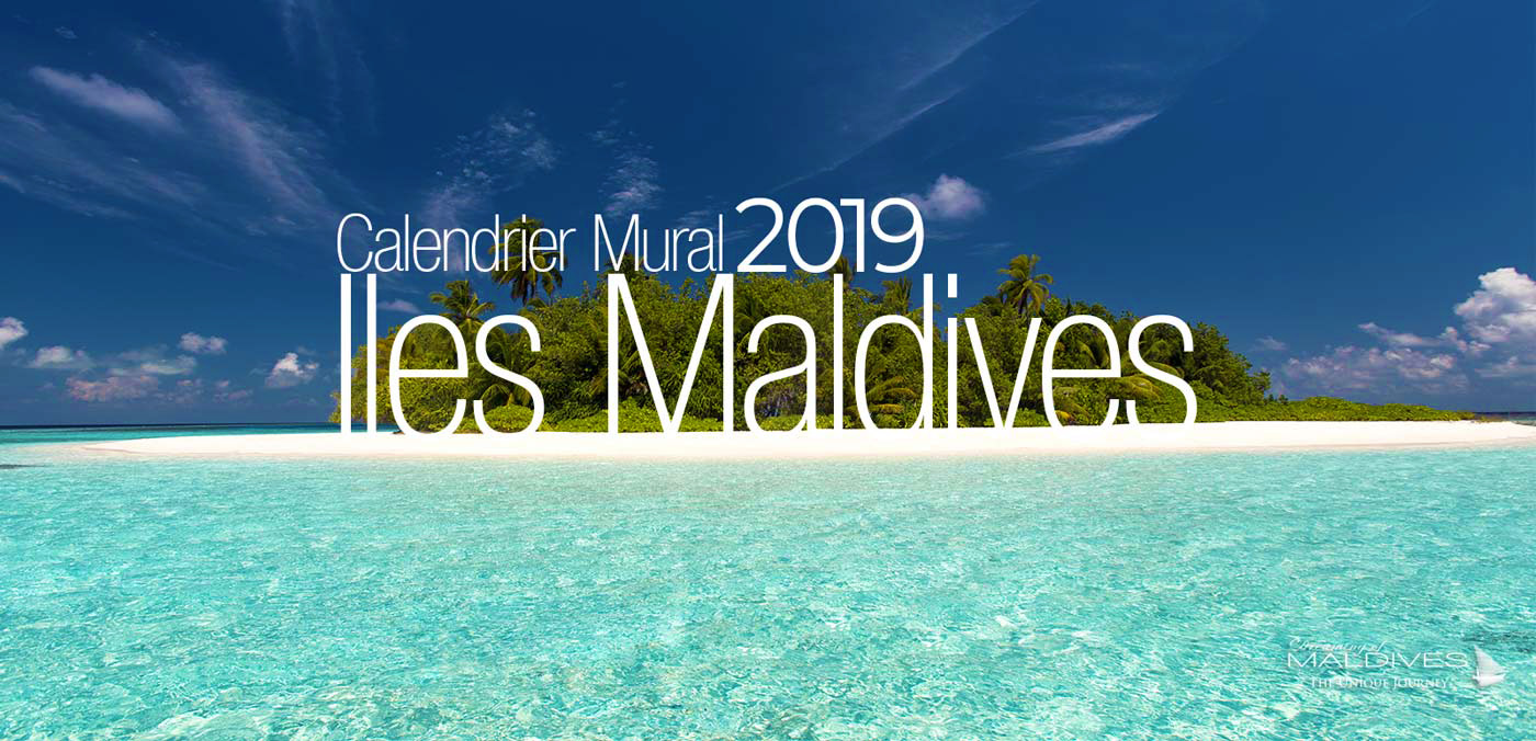 calendrier 2019 de photos des iles maldives