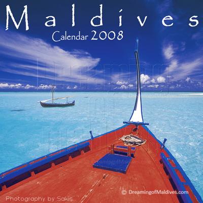 Calendrier mural des Iles Maldives   Edition 2008