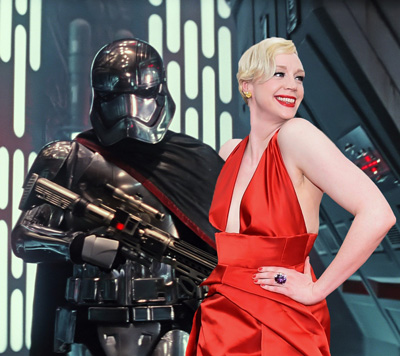 Gwendoline Christie aka Captain Phasma