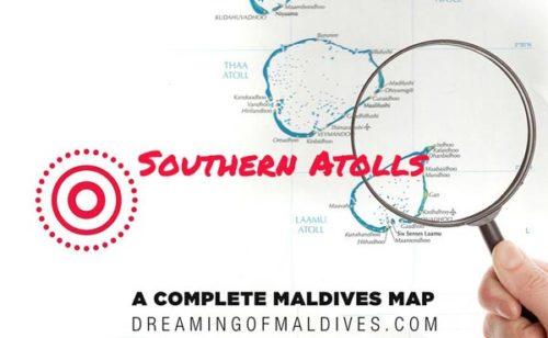 cartes Atolls des MAldives