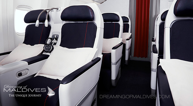 Classe premium Eco Air France Paris Maldives Vol Direct