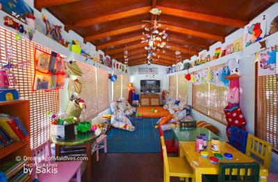 Club enfants de l'Hotel Anantara Dhigu Maldives