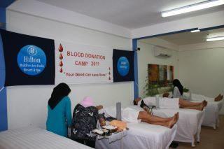 Collecte de sang aux Maldives Hilton Iru Fushi