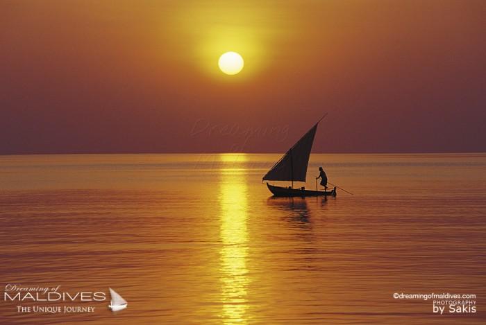 Coucher de Soleil aux Maldives - Coucher de Soleil Equateur