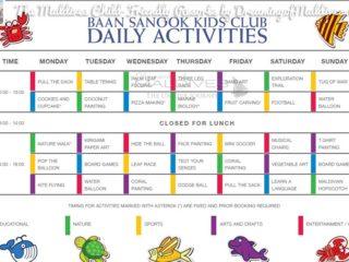 Le Programme et les activités du club-enfant à  Dusit Thani Maldives