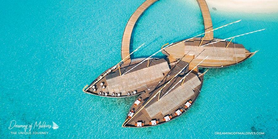 10 lieux extraordinaires Maldives restaurant Ba'theli  Milaidhoo maldives