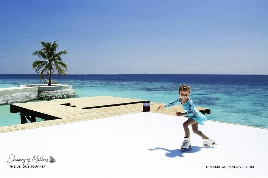 10 lieux extraordinaires Maldives patinoire à glace au Jumeirah Vittaveli