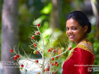 Femmes des Maldives. Journée Internationale de la Femme