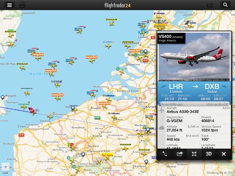 Application iPhone et iPad pour le suivi des vols – FlightRadar 24