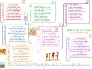 Le Programme et les activités du club-enfant à  Four Seasons Kuda Huraa
