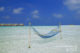 Photo du Jour : Maldives Water Villas + Hamac + lagon + ile deserte