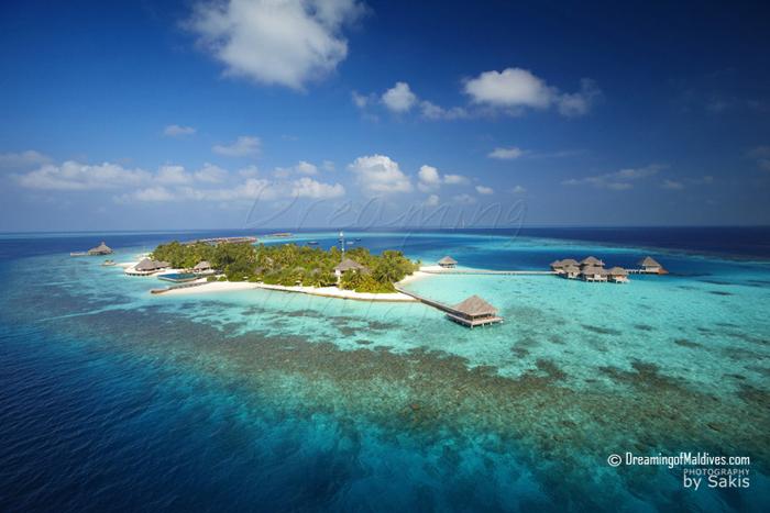 Huvafen Fushi Maldives Photo aérienne - Une dernière vue sur Huvafen Fushi.