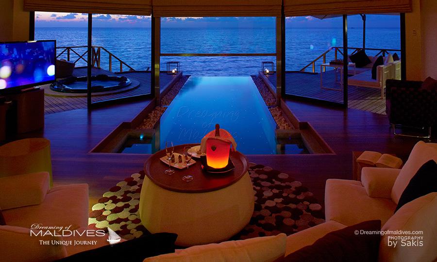 les Villas les plus sexy pour un sejour romantique aux maldives. Huvafen Fushi