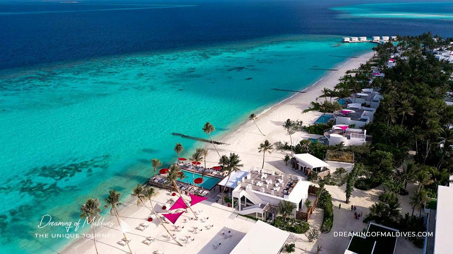 Vue aérienne île LUX* North Male Atoll Maldives