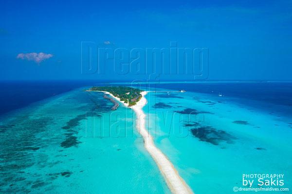 Kuredu Island Resort Maldives, photo aérienne