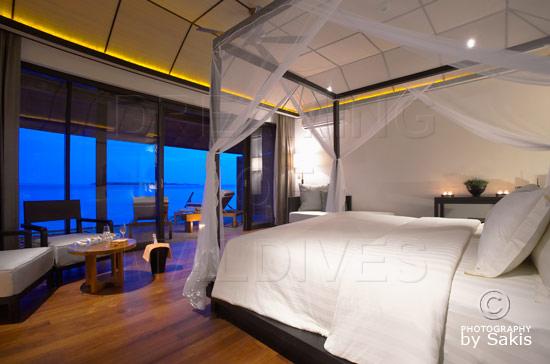 Lily Beach Maldives - La chambre des Water Villas
