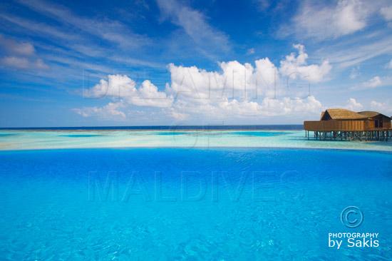 Lily Beach Maldives - Le Spa vu depuis la piscine