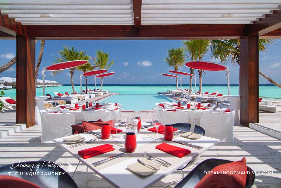 BEACH ROUGE Beach Club et restaurant LUX* North Male Atoll