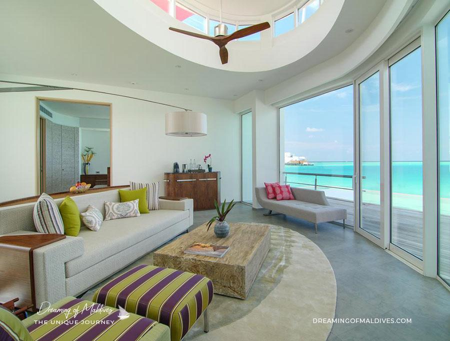 Intérieur des Penthouses. LUX* North Male Atoll
