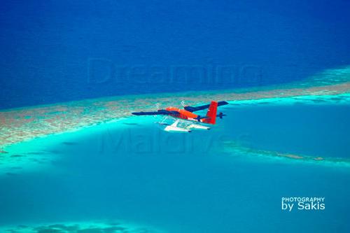 Voyage en hydravion Maldivian Air Taxi aux Maldives, photo aerienne