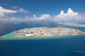 Male, Capitale des Maldives. Photo Aerienne